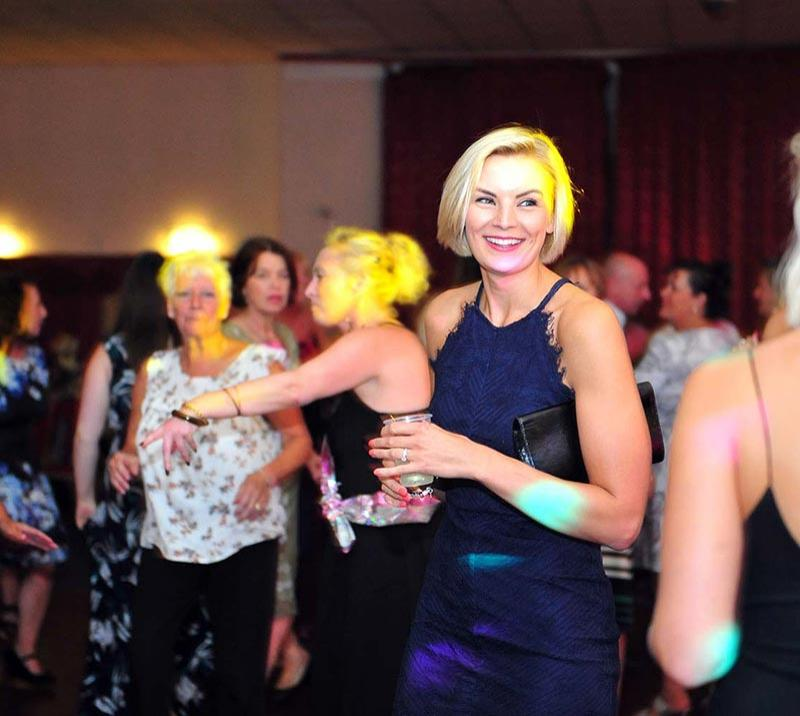 Guests dance the night away at a part hosted at Wolverhampton Racecourse.