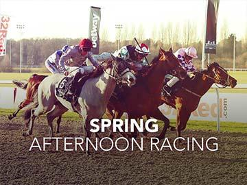 Spring Afternoon Racing event banner.