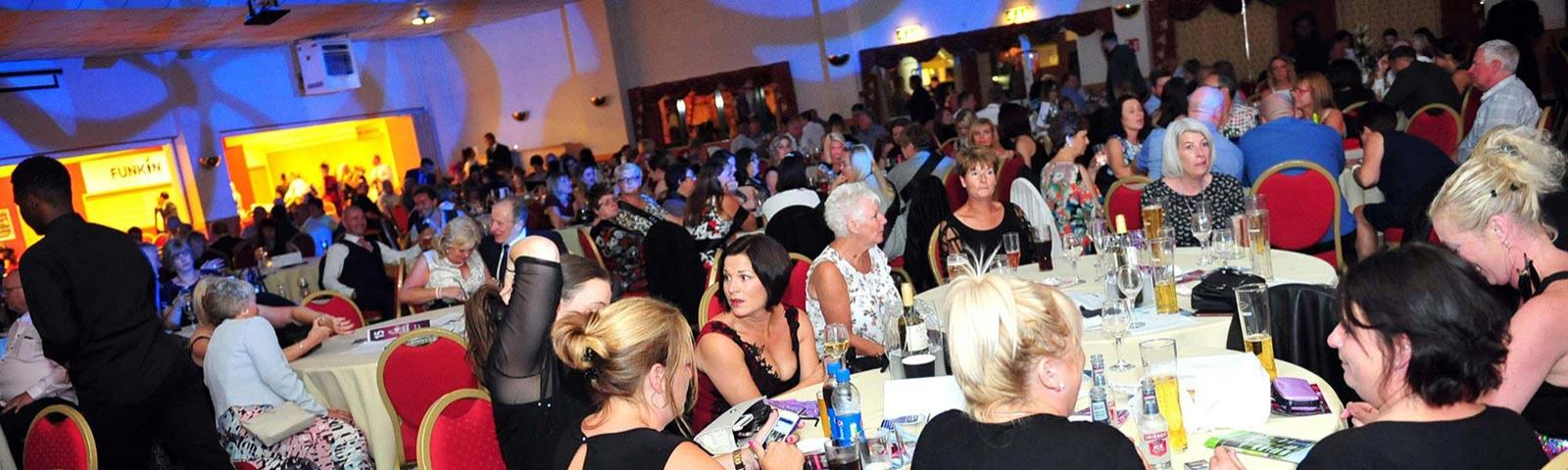 Guests enjoy a night partying at Wolverhampton Racecourse.