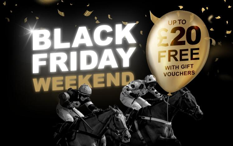 Treat someone with black friday gift voucher to enjoy live horse racing at Wolverhampton Racecourse. A unique gift for Christ